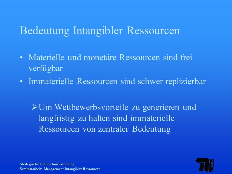 Bedeutung Intangibler Ressourcen
