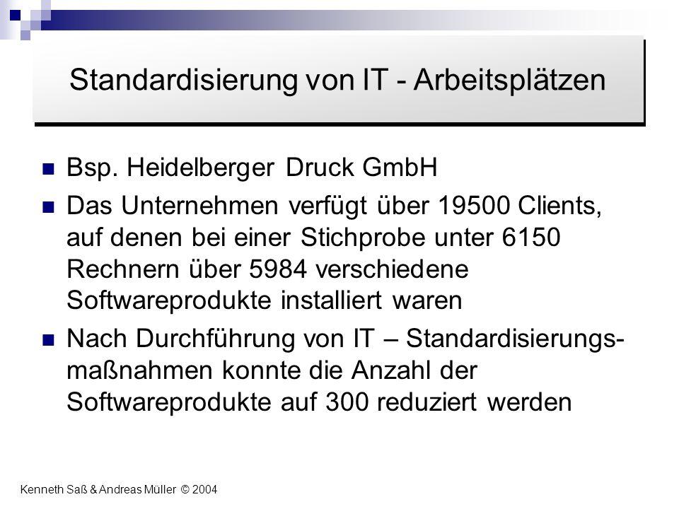 Standardisierung von IT - Arbeitsplätzen