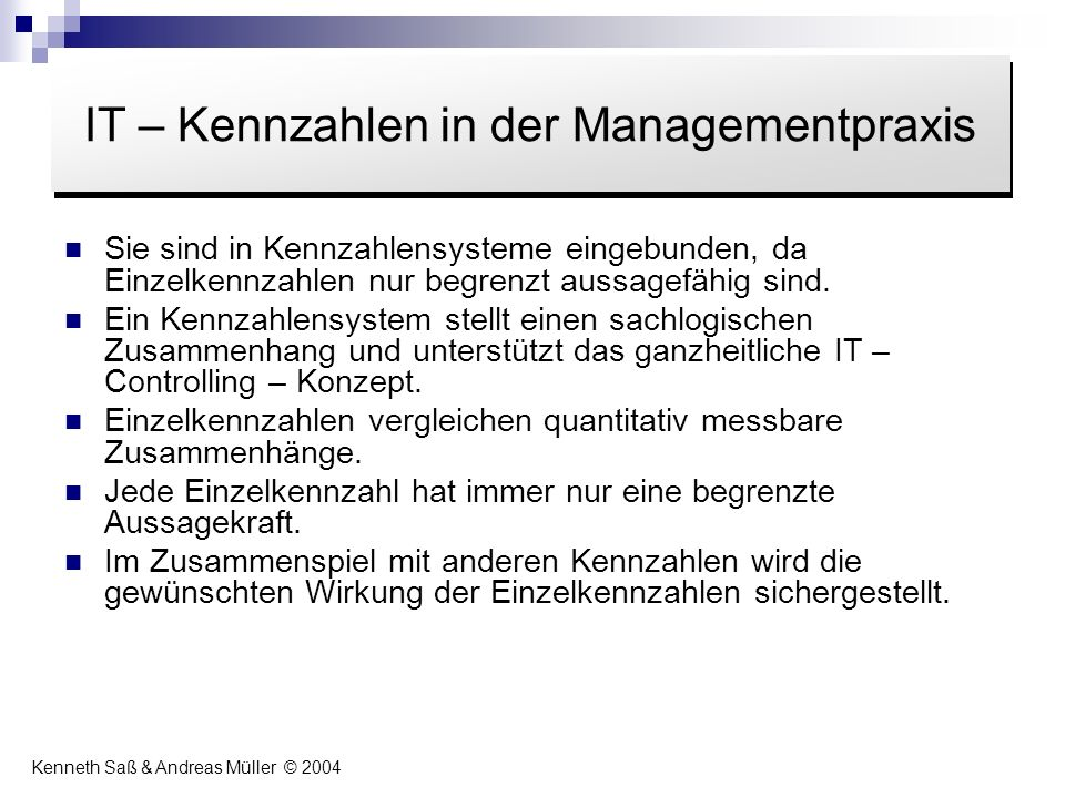 IT – Kennzahlen in der Managementpraxis