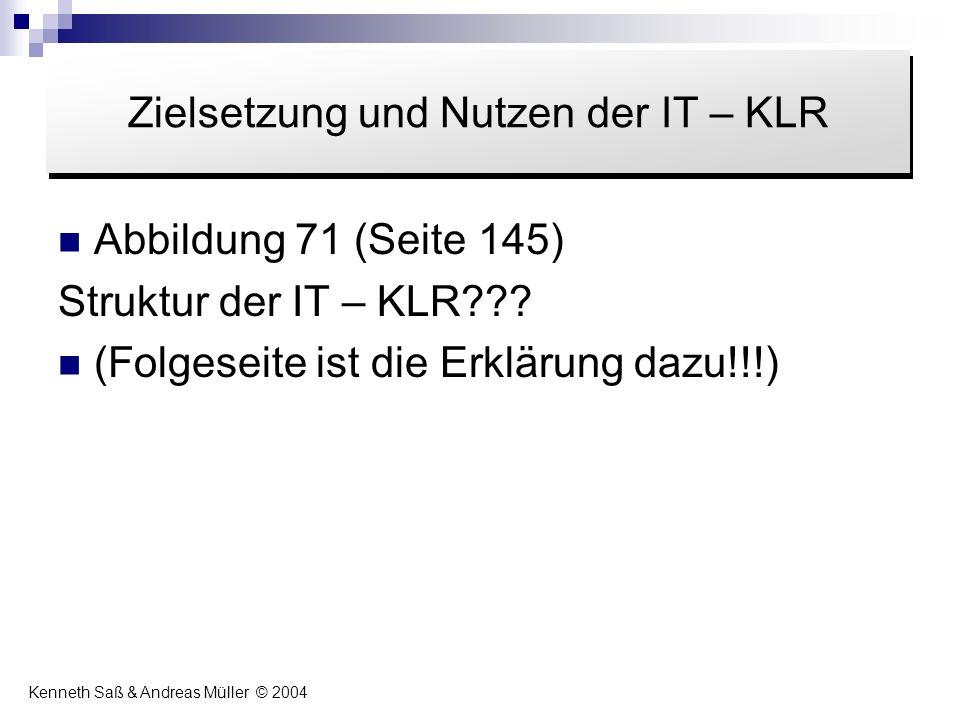 Zielsetzung und Nutzen der IT – KLR