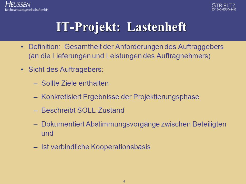 IT-Projekt: Lastenheft