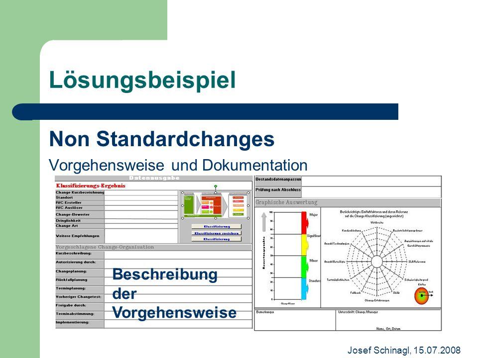 Lösungsbeispiel Non Standardchanges Vorgehensweise und Dokumentation