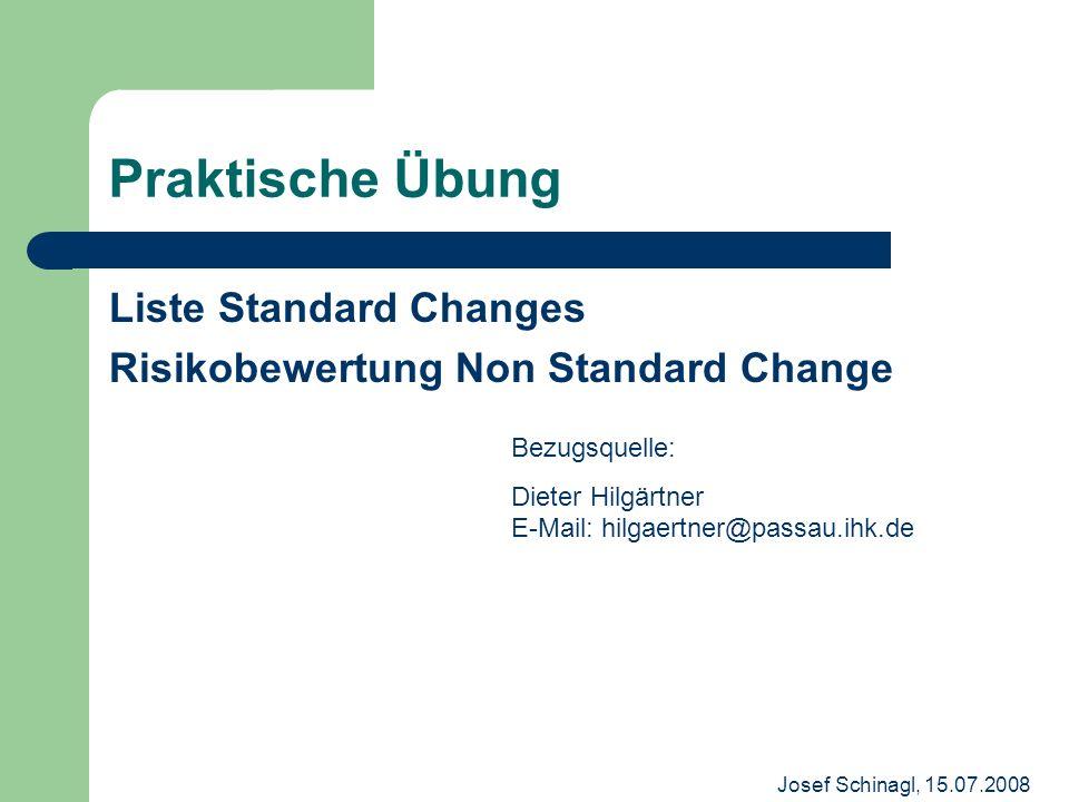 Praktische Übung Liste Standard Changes