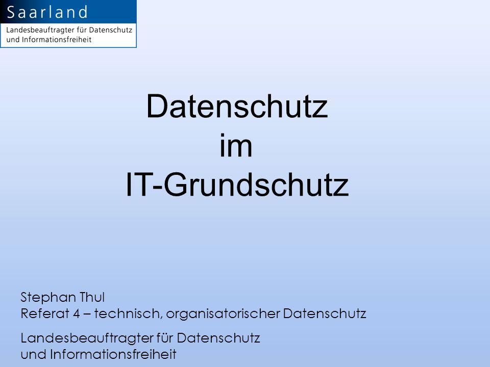 Datenschutz im IT-Grundschutz