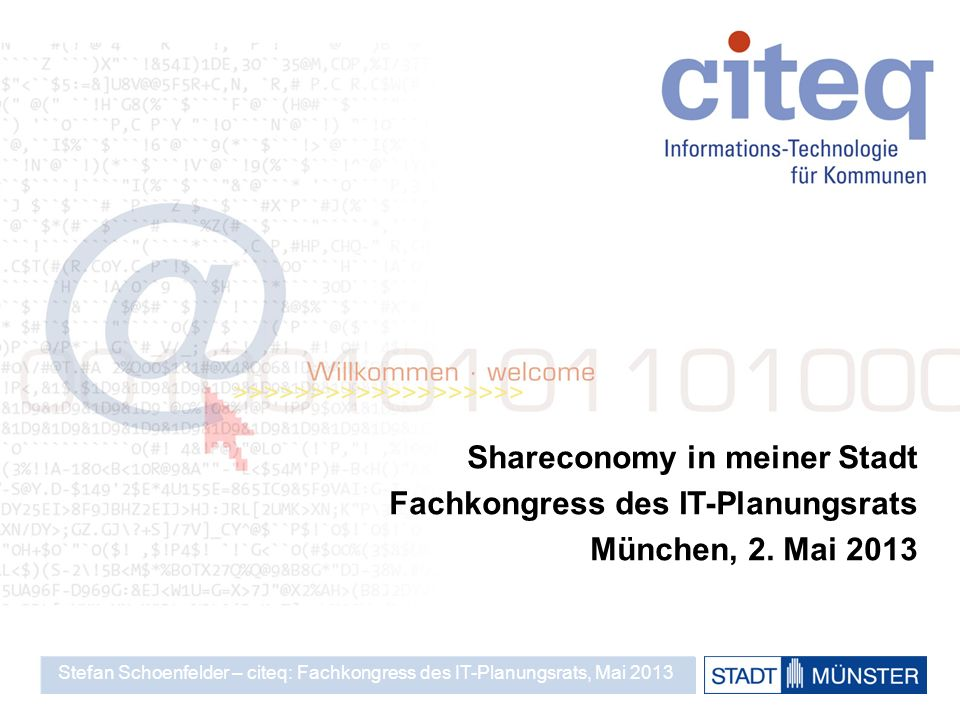 Shareconomy in meiner Stadt Fachkongress des IT-Planungsrats