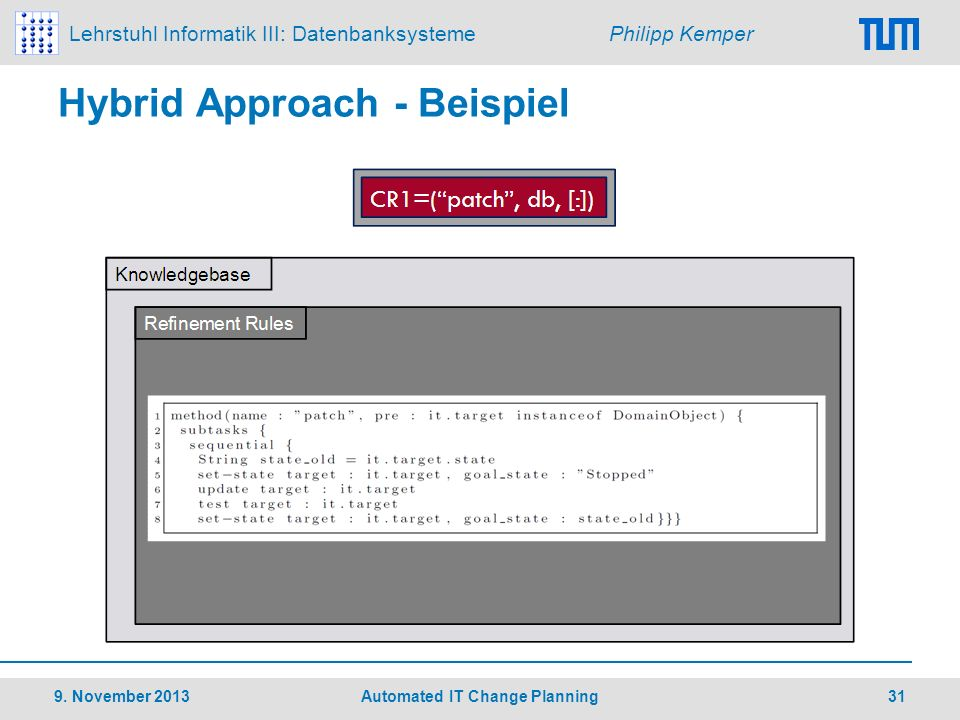 Hybrid Approach - Beispiel