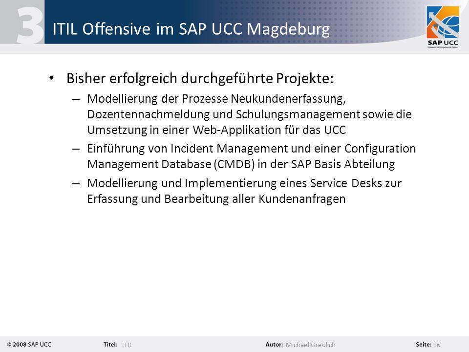 ITIL Offensive im SAP UCC Magdeburg