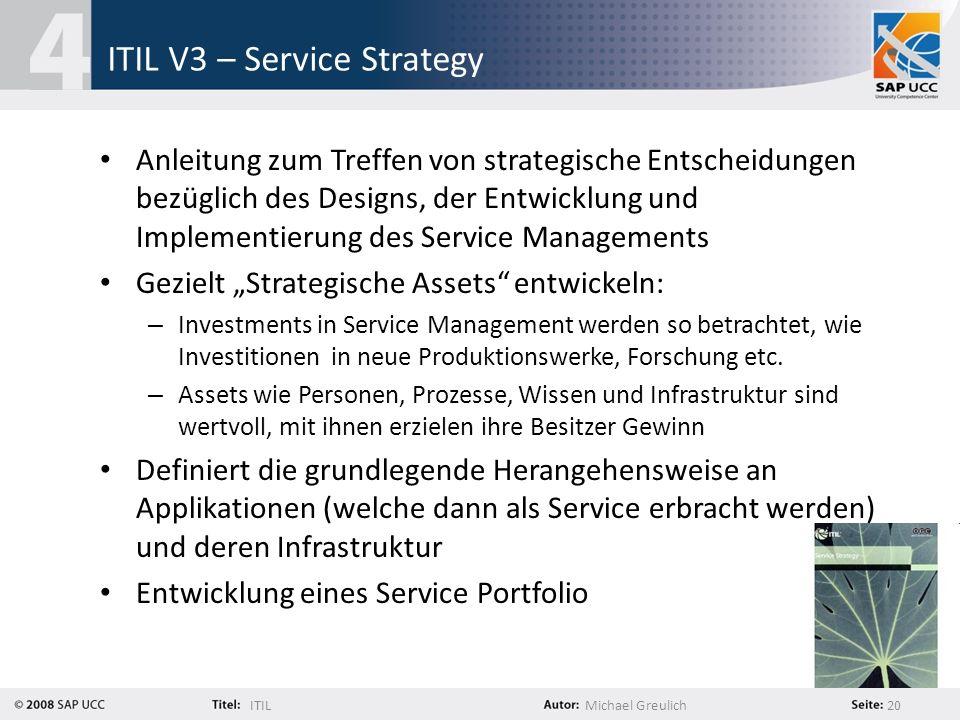 ITIL V3 – Service Strategy