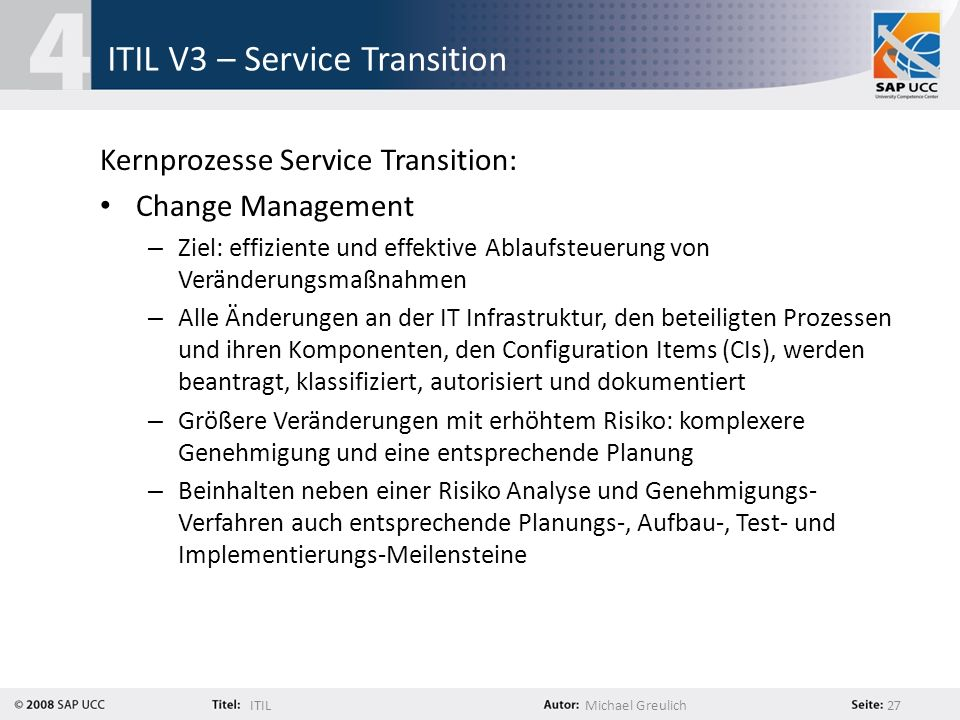 ITIL V3 – Service Transition
