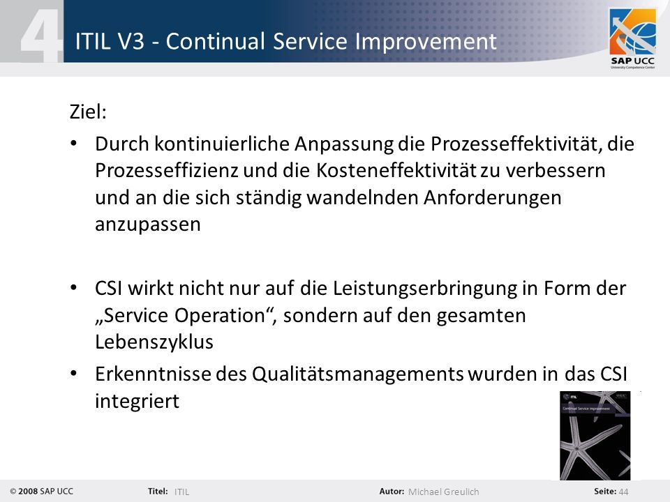ITIL V3 - Continual Service Improvement