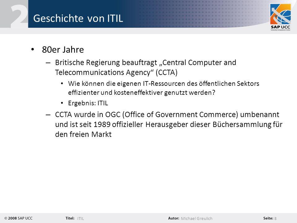 Geschichte von ITIL 80er Jahre