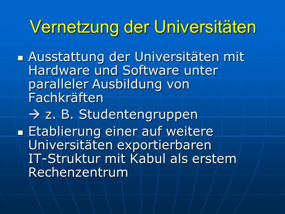Vernetzung der Universitäten