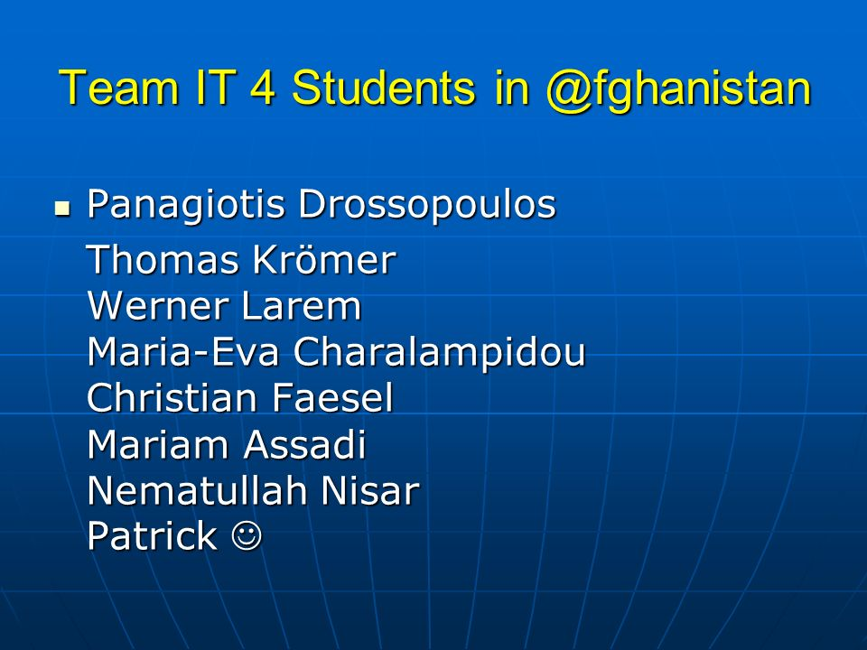Team IT 4 Students in @fghanistan