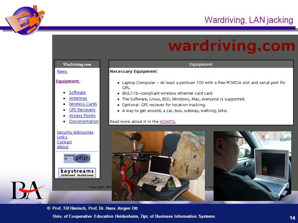 Wardriving, LAN jacking