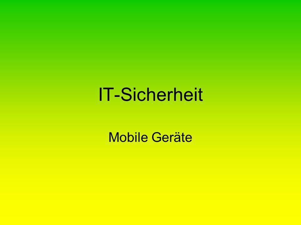 IT-Sicherheit Mobile Geräte