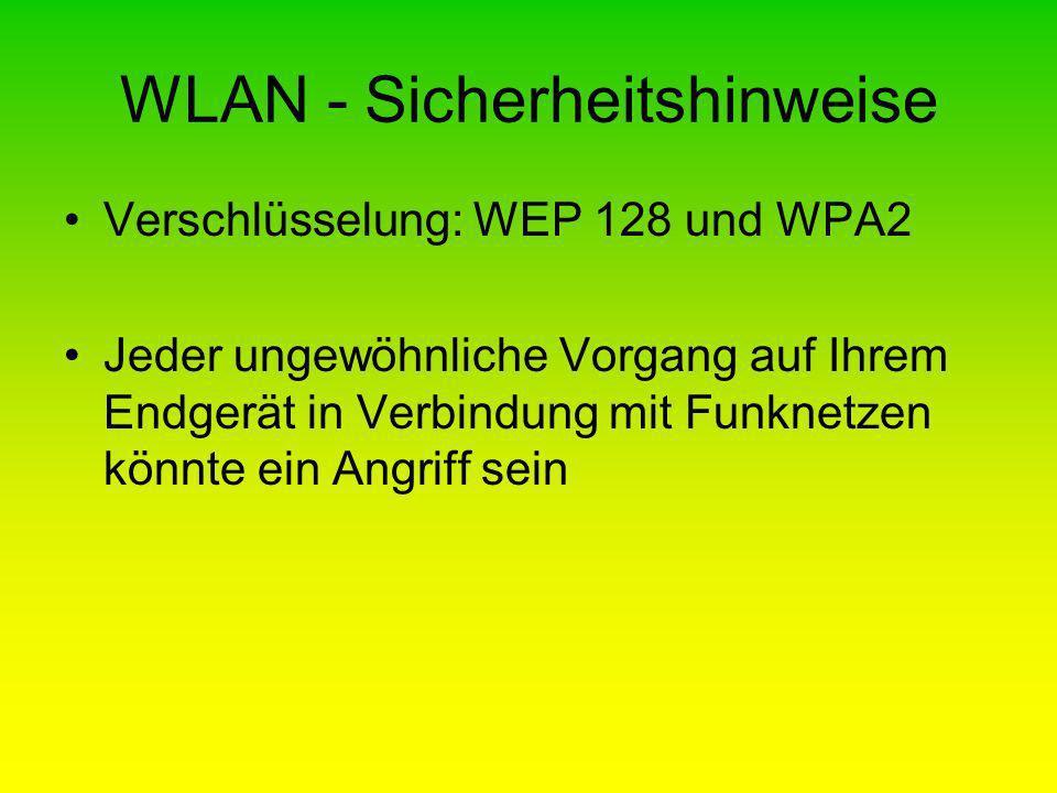 WLAN - Sicherheitshinweise