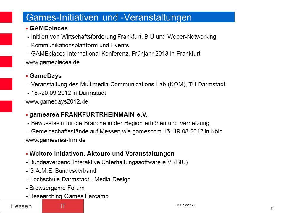 Games-Initiativen und -Veranstaltungen