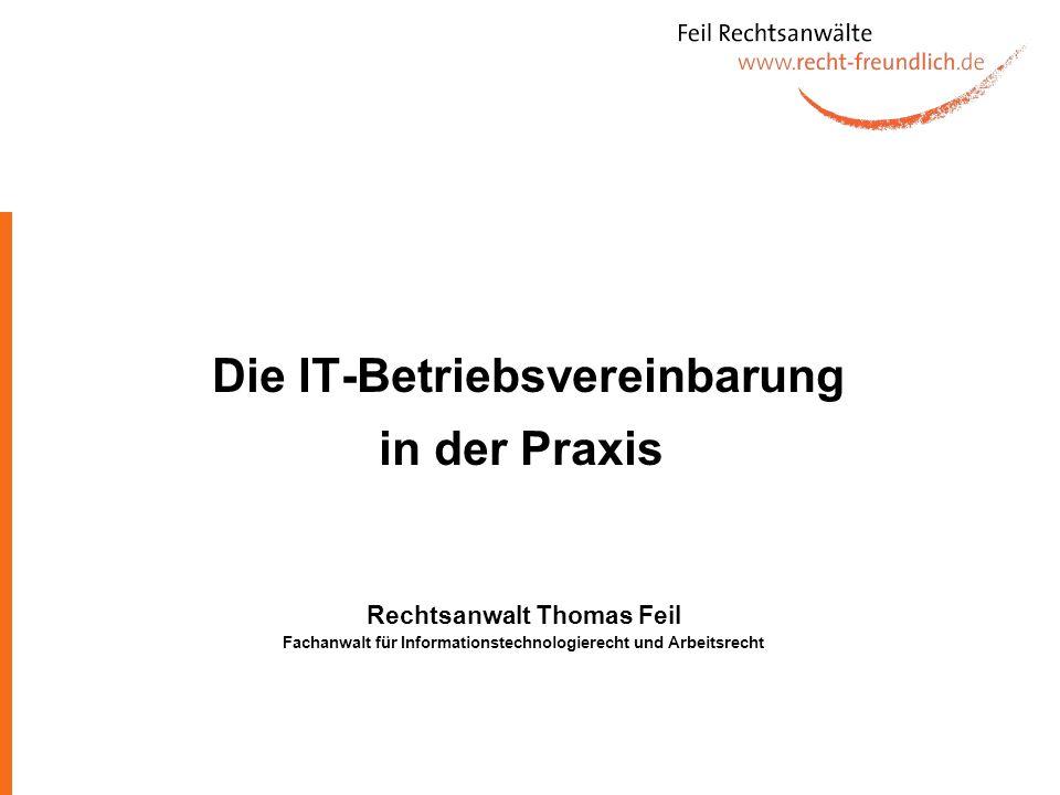 Die IT-Betriebsvereinbarung in der Praxis