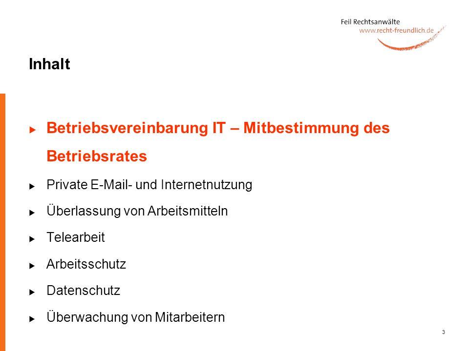 Betriebsvereinbarung IT – Mitbestimmung des Betriebsrates