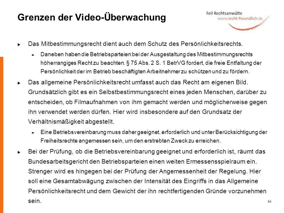Grenzen der Video-Überwachung