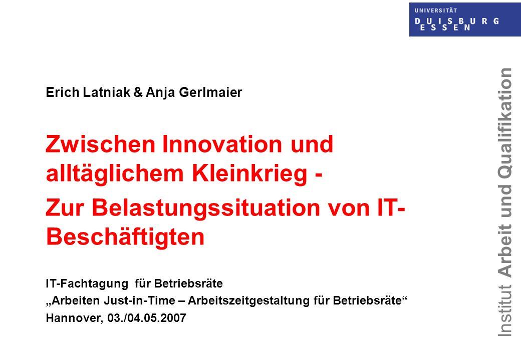 Zwischen Innovation und alltäglichem Kleinkrieg -