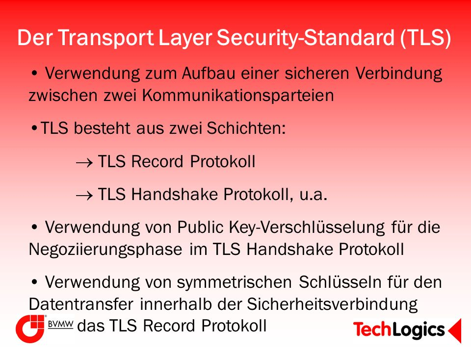 Der Transport Layer Security-Standard (TLS)