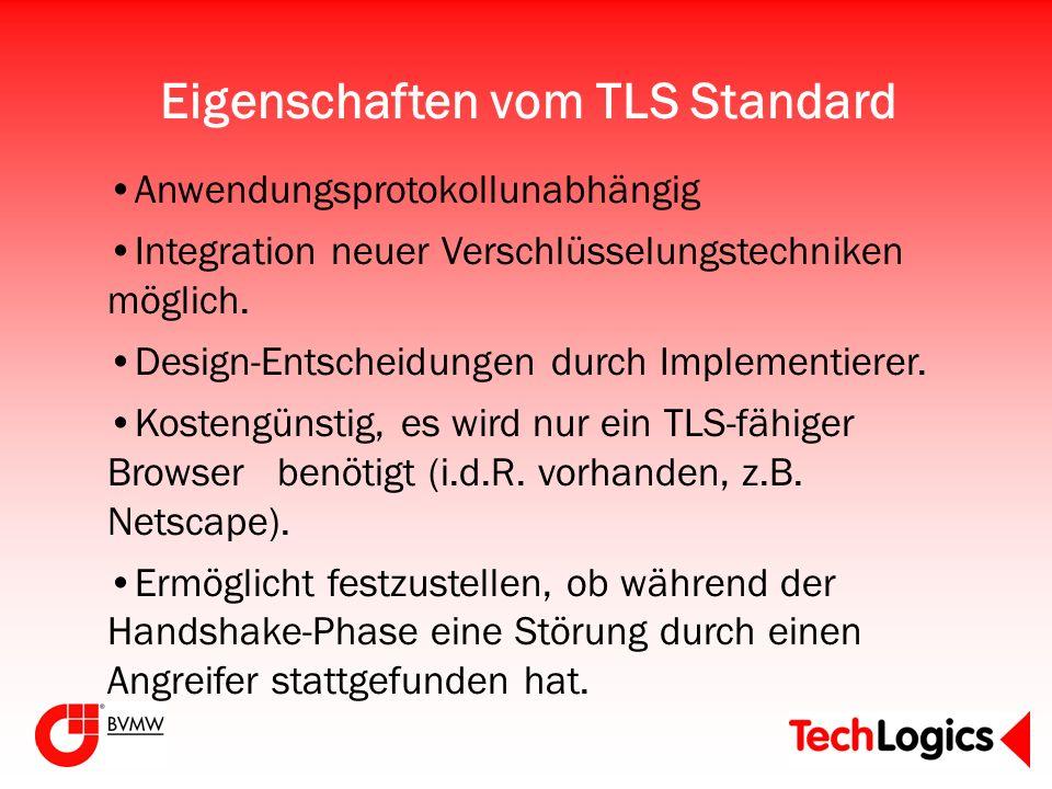 Eigenschaften vom TLS Standard