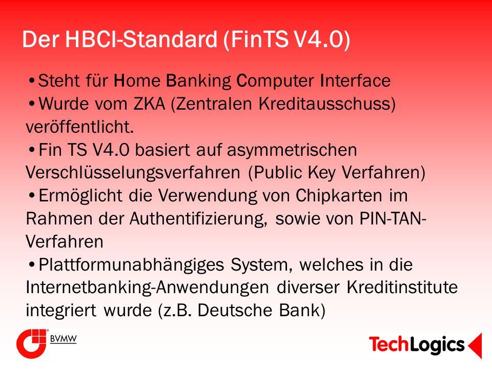 Der HBCI-Standard (FinTS V4.0)