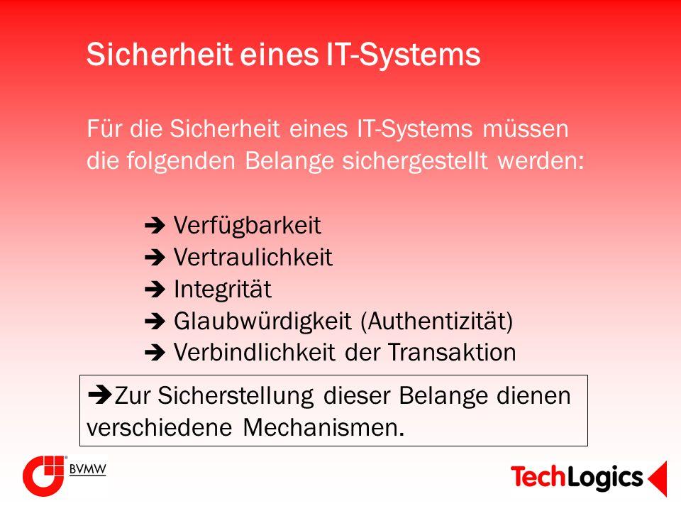 Sicherheit eines IT-Systems