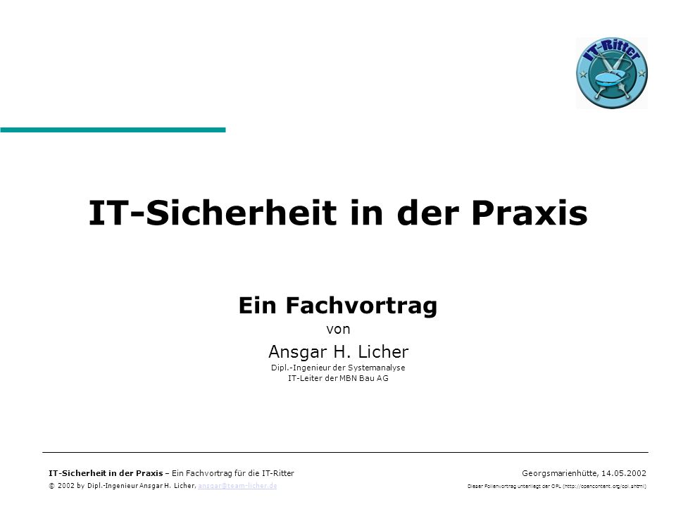 IT-Sicherheit in der Praxis