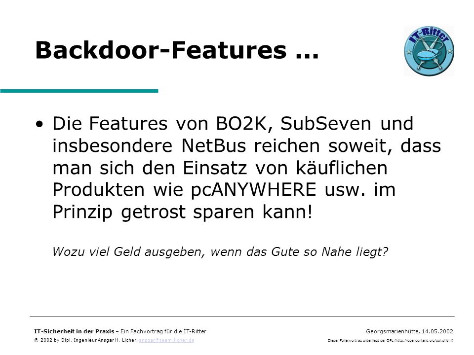 Backdoor-Features ...