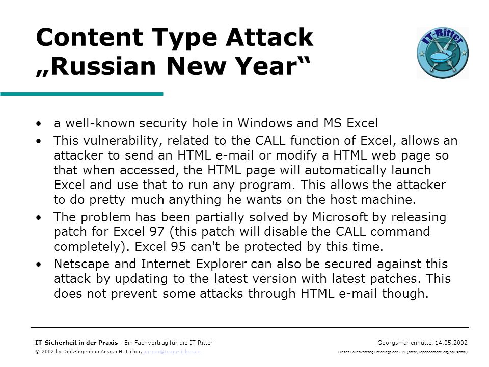 "Content Type Attack ""Russian New Year"