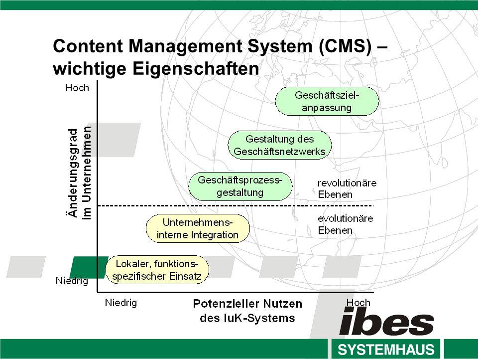 Content Management System (CMS) –