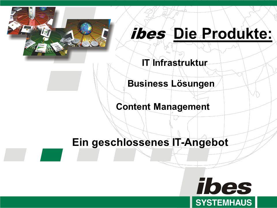 ibes Die Produkte: Ein geschlossenes IT-Angebot IT Infrastruktur