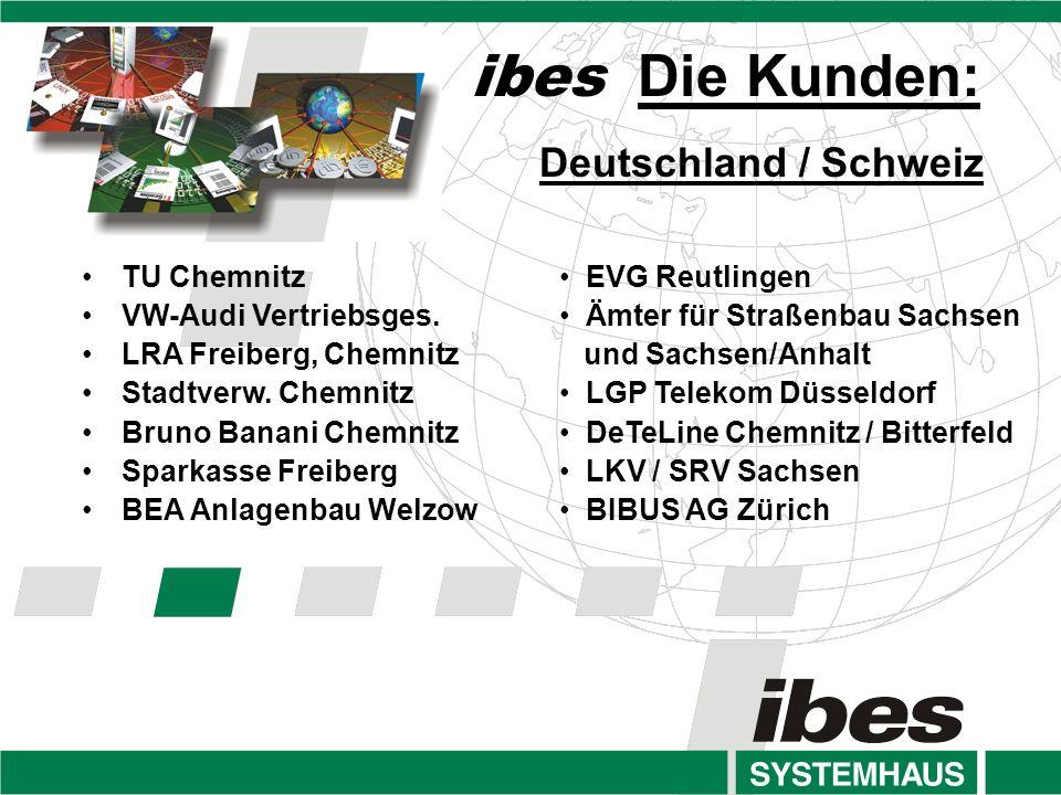 ibes Die Kunden: Deutschland / Schweiz TU Chemnitz