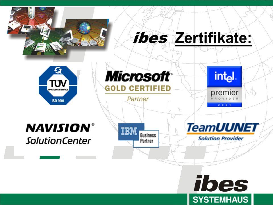 ibes Zertifikate: