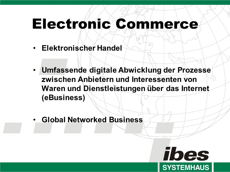 Electronic Commerce Elektronischer Handel