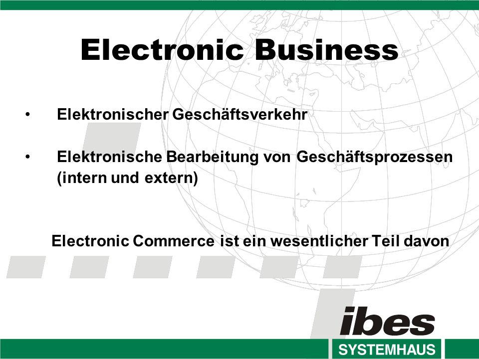 Electronic Business Elektronischer Geschäftsverkehr