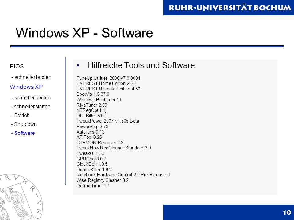 Windows XP - Software Hilfreiche Tools und Software BIOS