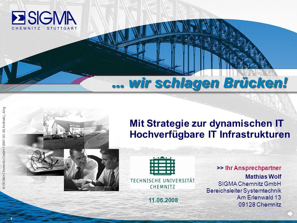 Mit Strategie zur dynamischen IT Hochverfügbare IT Infrastrukturen
