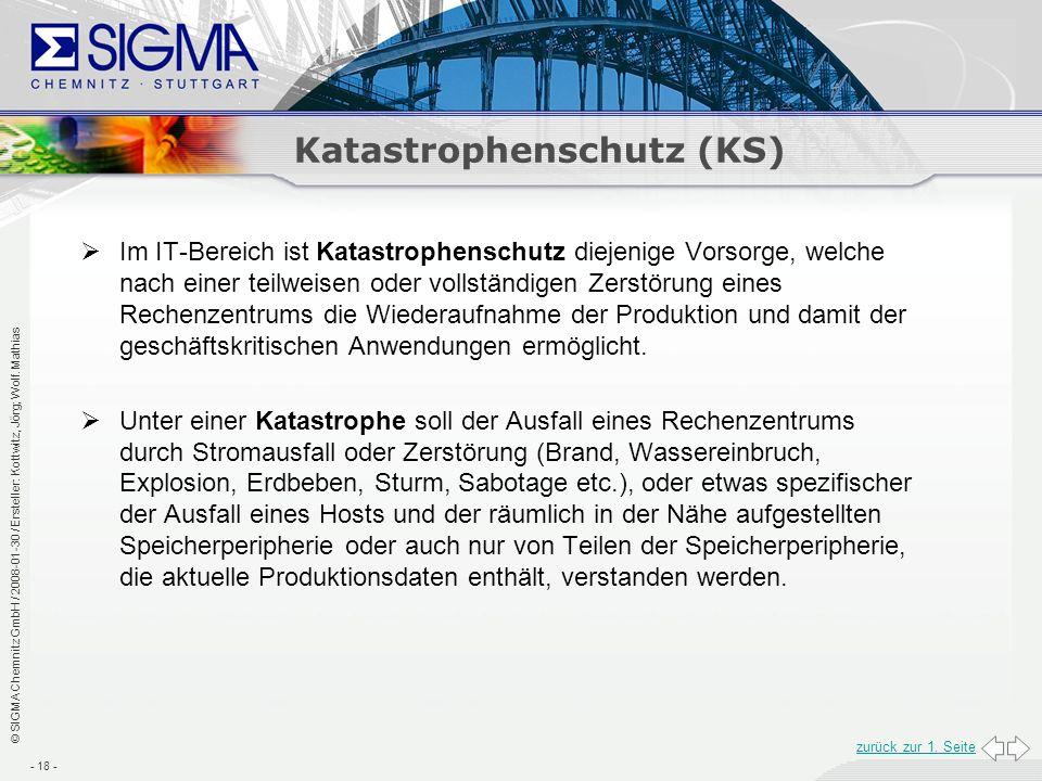 Katastrophenschutz (KS)