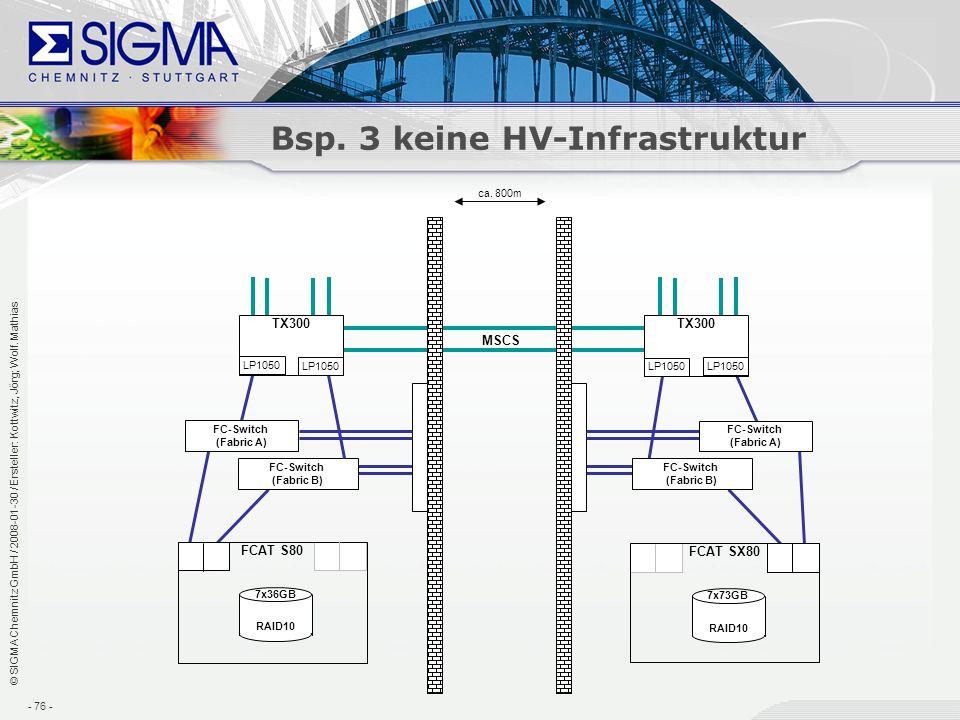 Bsp. 3 keine HV-Infrastruktur