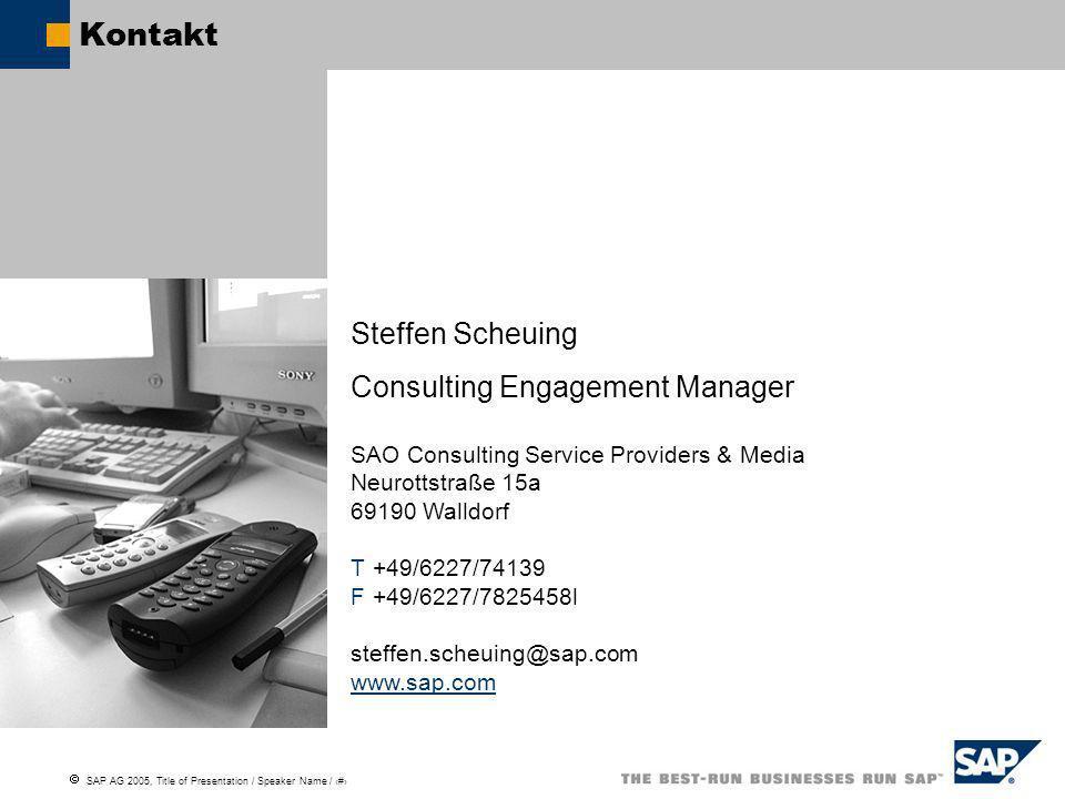 Kontakt Steffen Scheuing Consulting Engagement Manager