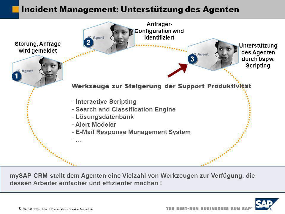 Incident Management: Unterstützung des Agenten