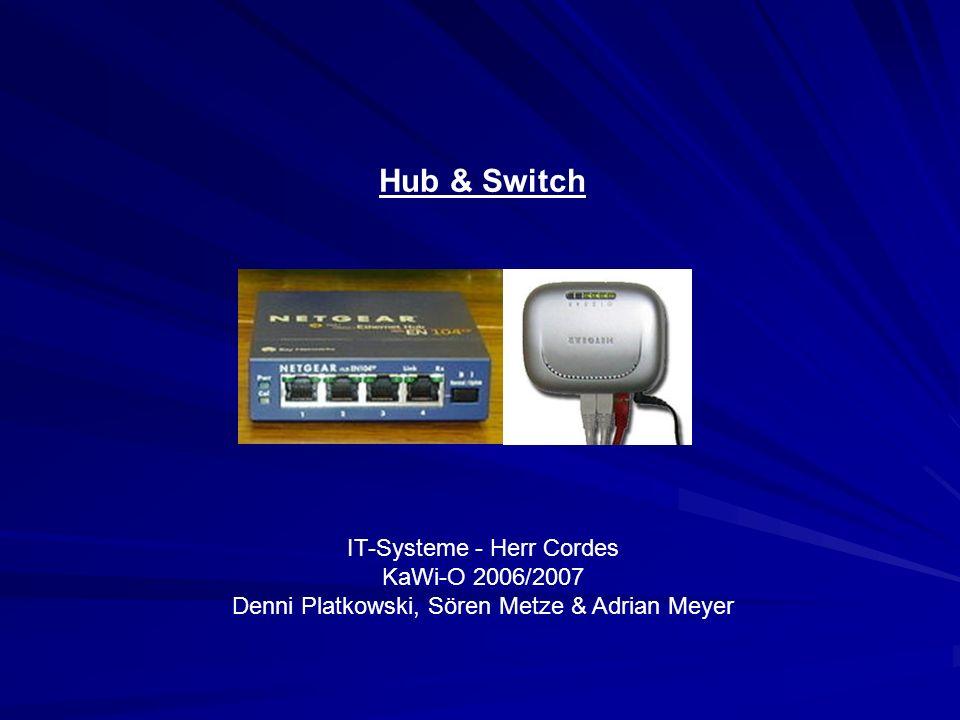 Hub & Switch IT-Systeme - Herr Cordes KaWi-O 2006/2007