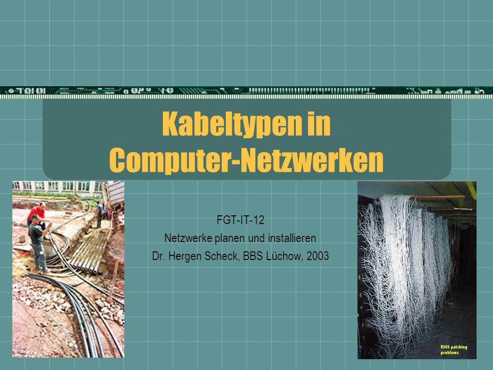 Kabeltypen in Computer-Netzwerken