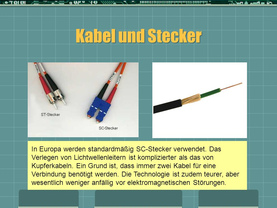 Kabel und Stecker
