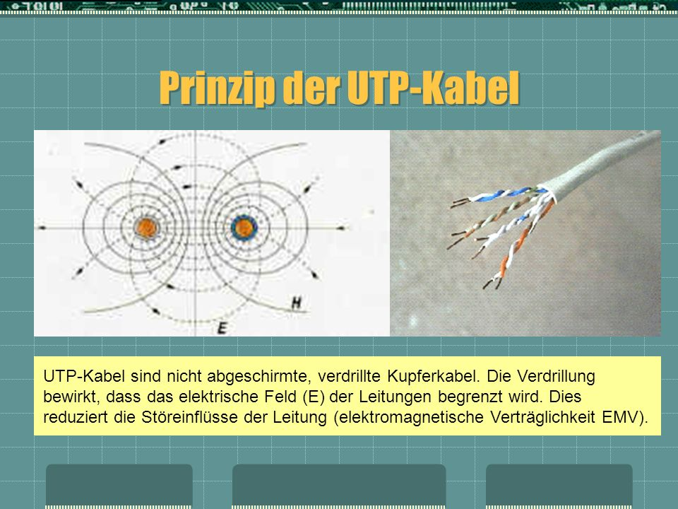 Prinzip der UTP-Kabel