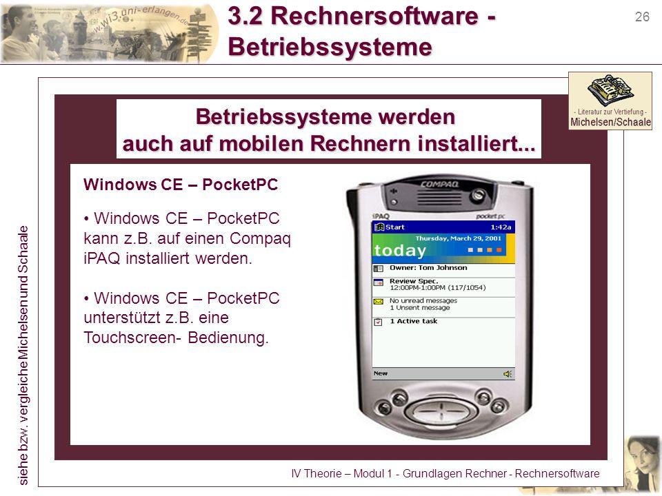 3.2 Rechnersoftware - Betriebssysteme