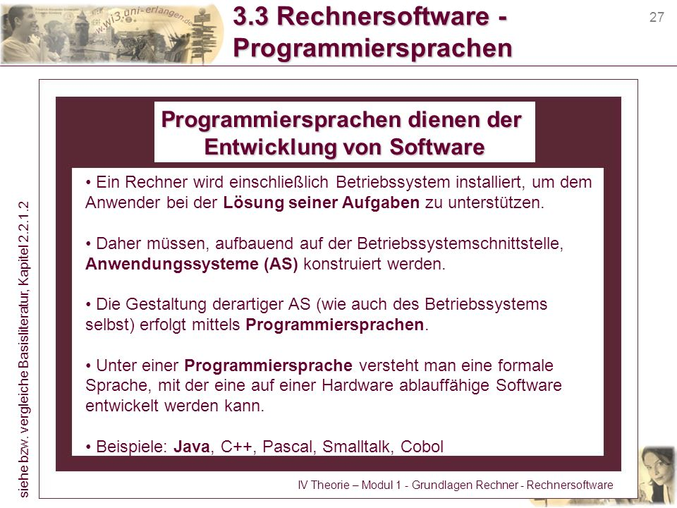 3.3 Rechnersoftware - Programmiersprachen